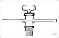 1-Wege-Hahn kapillar NS14 B:2,5mm geschl