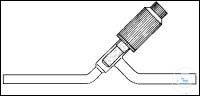 "Straight high vacuum valve ""Witaflo"" valve plug"