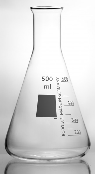 Erlenmeyer flask narrow neck with rim neutral