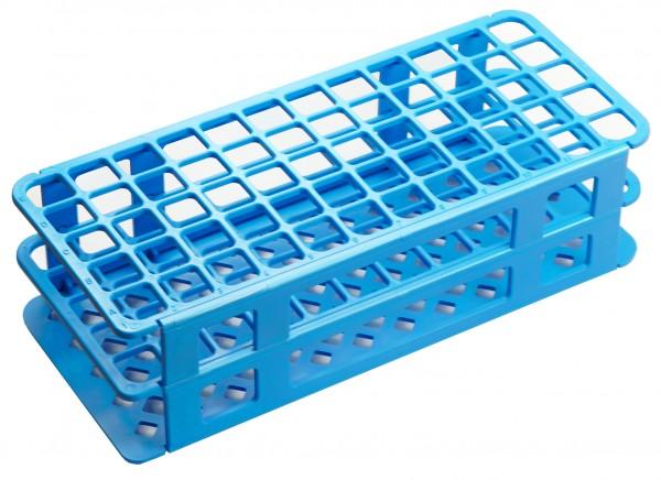 Gestelle für Reagenzgläser, Kulturröhrchen und Reaktionsgefäße blau