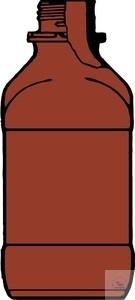 Reagenzienflaschen quadratisch mit Gewinde (Originalitätsverschluss) Enghals