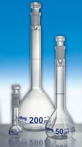 Volumetric flasks class A with ST blue graduated