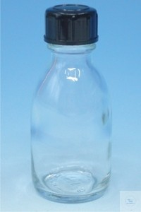 Reagent bottles with screw cap narrow neck clear glass