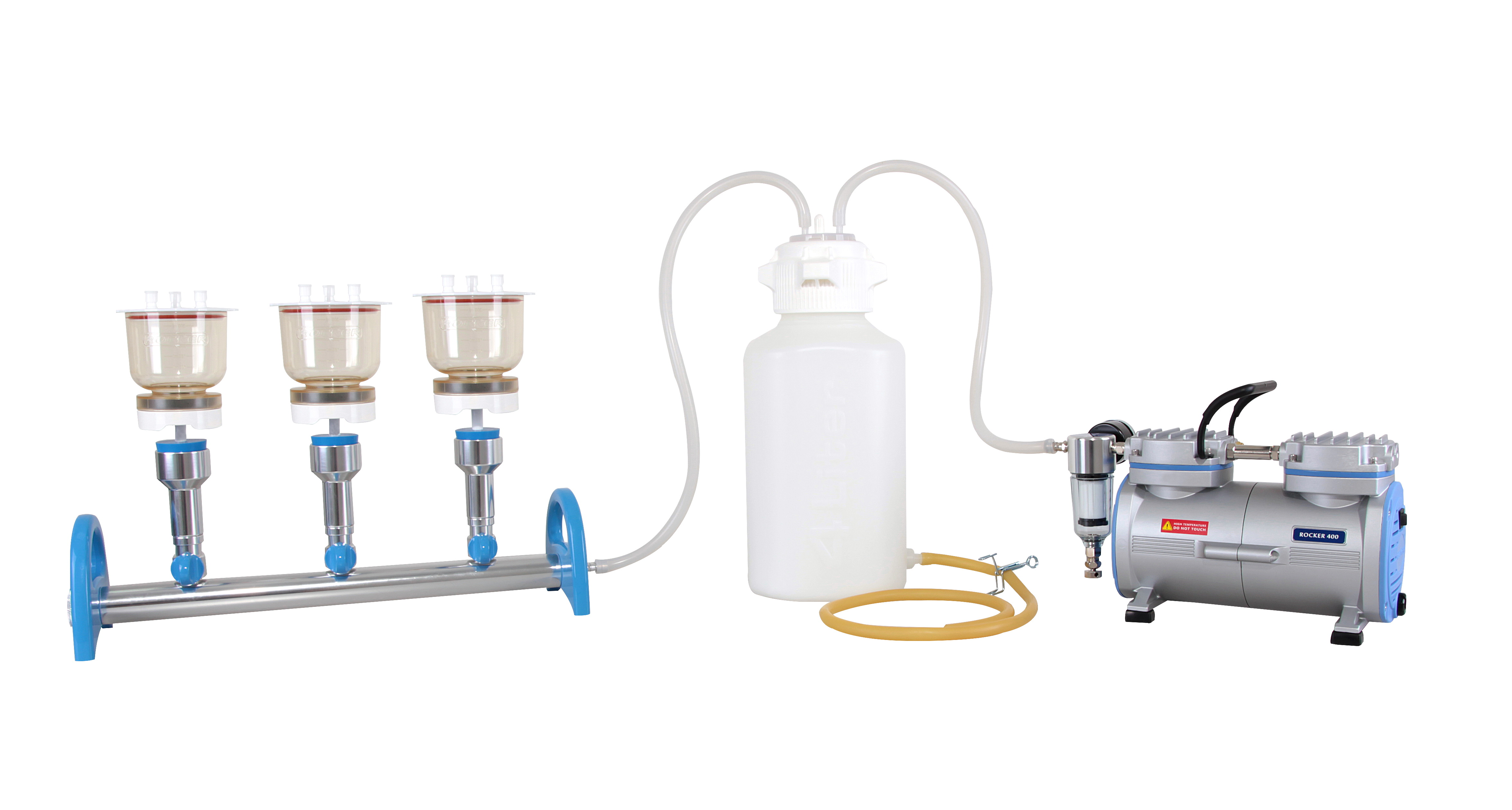 Manifold Sets With Vacuum Pumps And Waste Bottles Witeg