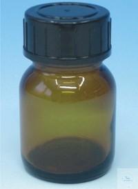 Reagenzienflaschen mit Schraubkappe Weithals Braunglas