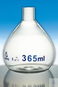 Messkolben Überlaufmesskolben für Wasseruntersuchungen Klasse B