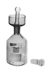 B.O.D. bottles (Karlsruher bottles) suitable ST hollow glass stopper with extra long stem